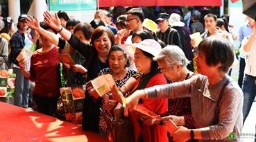 江西省营养学会启动仪式知识竞答环节市民踊跃回答问题